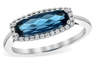 E226-59171: LDS RG 1.79 LONDON BLUE TOPAZ 1.90 TGW