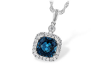 F225-64553: NECK 1.63 LONDON BLUE TOPAZ 1.80 TGW