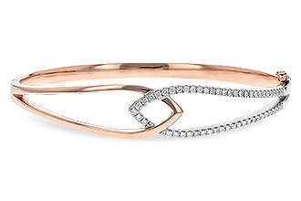 F225-70989: BANGLE BRACELET .50 TW (ROSE & WG)