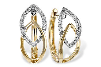 G225-70989: EARRINGS .25 TW